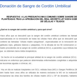 ONT – Donación de Sangre de Cordón Umbilical