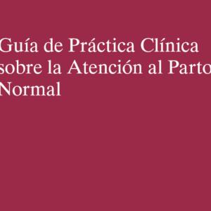 MSSSI – GUÍA DE PRÁCTICA CLÍNICA SOBRE ATENCIÓN AL PARTO NORMAL (2010)