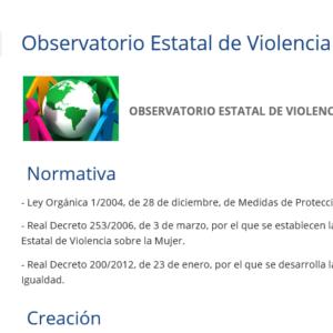 MSCBS- OBSERVATORIO ESTATAL DE VIOLENCIA SOBRE LA MUJER