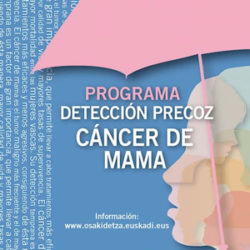 OSAKIDETZA- PROGRAMA DE DETECCIÓN PRECOZ DE CÁNCER DE MAMA