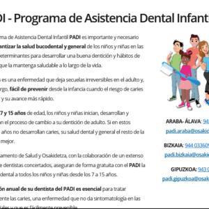 OSAKIDETZA- PADI- PROGRAMA DE ASISTENCIA DENTAL INFANTIL