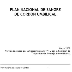 ONT – PLAN NACIONAL DE DONACIÓN DE CORDÓN