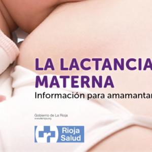 RIOJA SALUD- La lactancia materna información para amamantar